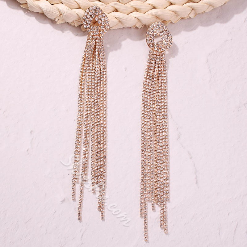 Plain European Alloy Gift Earrings