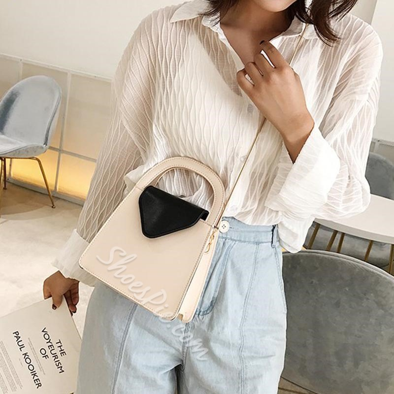 Shoespie Thread PU Rectangle Casual Tote Bags