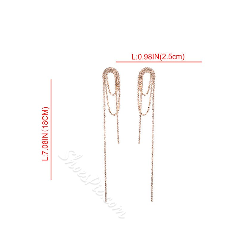 European Plain Alloy Anniversary Earrings