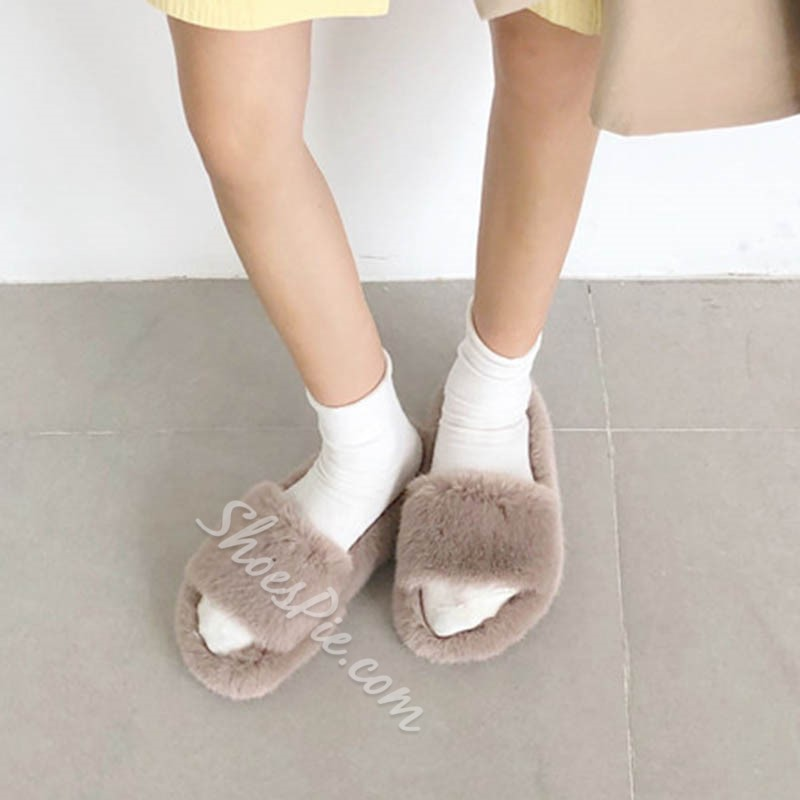Shoespie Stylish Slip-On Flip Flop Flat With Rubber Slippers