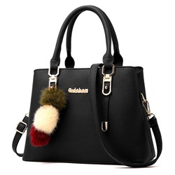 Shoespie Plain Belt-Decorated PU Rectangle Tote Bags