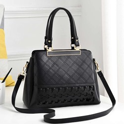 Shoespie PU Hollow Plaid Rectangle Tote Bags