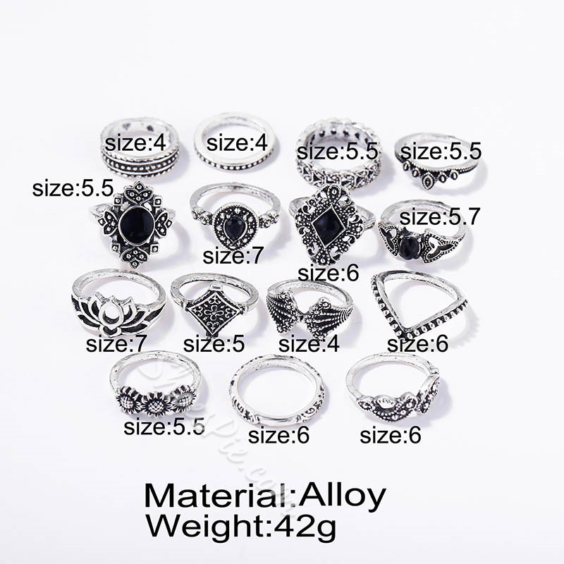 Vintage Alloy Hollow Out Gift Rings