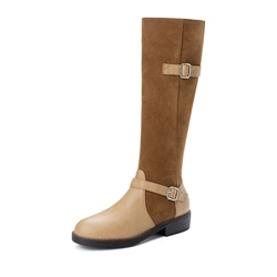 Shoespie Sexy Block Heel Round Toe Color Block Short Floss Boots