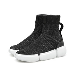 Shoespie Sexy Round Toe Slip-On Plain PU Boots