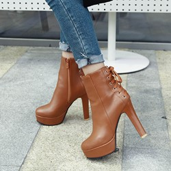 Shoespie Trendy Round Toe Chunky Heel Plain Short Floss Boots