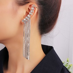 Plain Alloy Diamante Prom Earrings