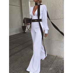 Fashion Full Length Wide Legs Women's Jumpsuit