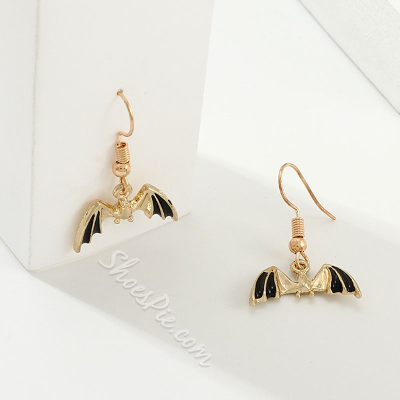 Alloy Cartoon Oil Drip Prom Earrings