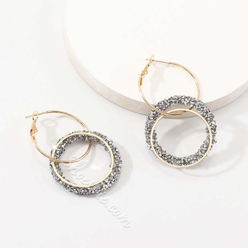 Diamante Alloy European Holiday Diamante Earrings