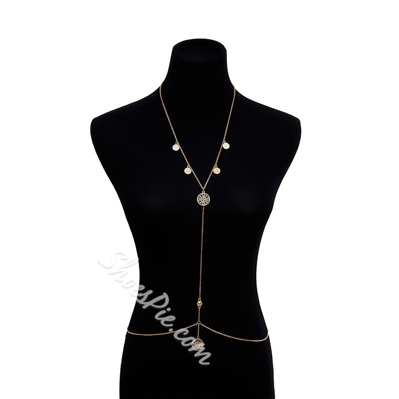 Body Chain Hollow Out Vintage Female Necklaces