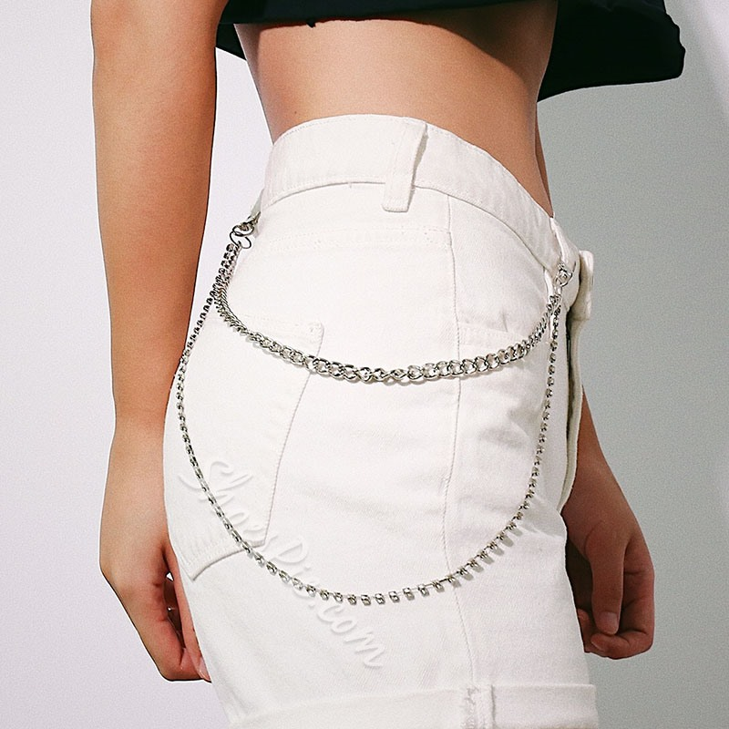 Metal Diamond European Waist Chains