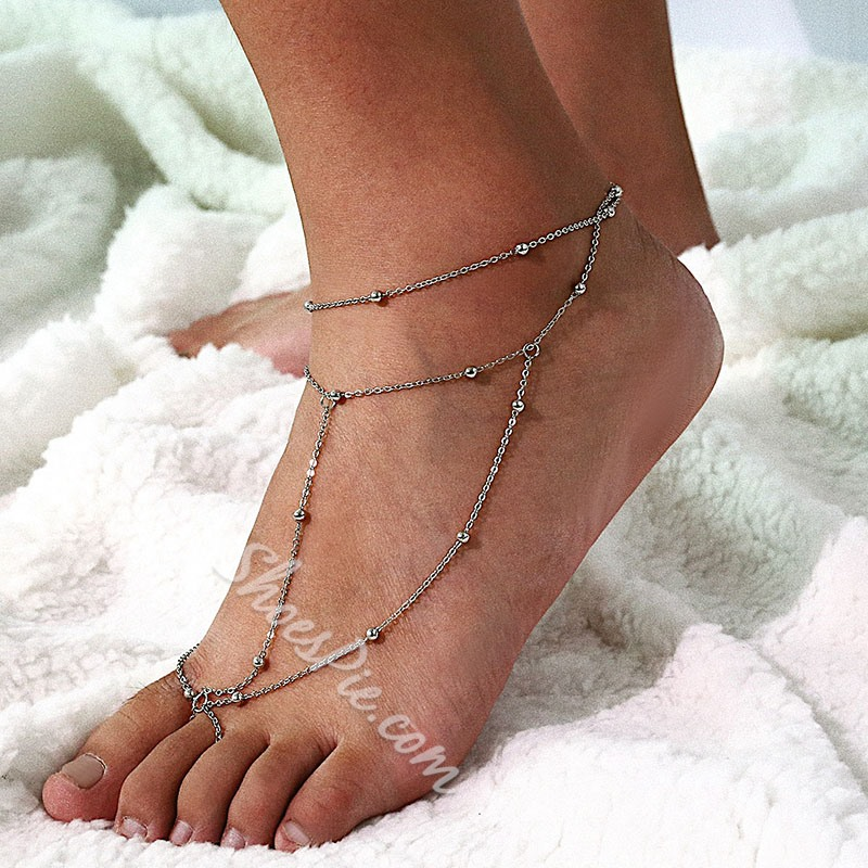 Female Plain E-Plating Anklets Anklets