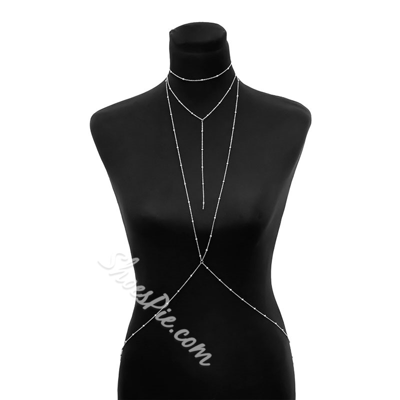 European E-Plating Body Chain Female Western Necklaces