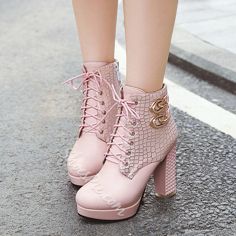 Shoespie Stylish Side Zipper Round Toe Chunky Heel Short Floss Boots