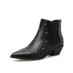 Shoespie Trendy Pointed Toe Slip-On Plain Casual Boots