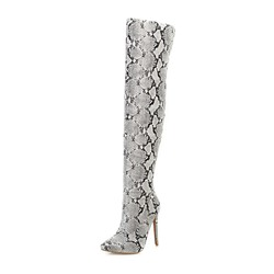 Shoespie Stylish Stiletto Heel Pointed Toe Side Zipper Short Floss Boots