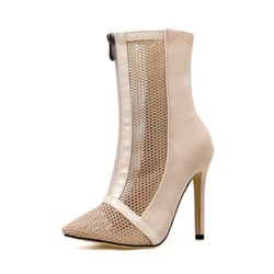 Shoespie Stylish Patchwork Stiletto Heel Pointed Toe Western Boots