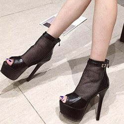 Shoespie Trendy Stiletto Heel Zipper Zipper Sexy Thin Shoes