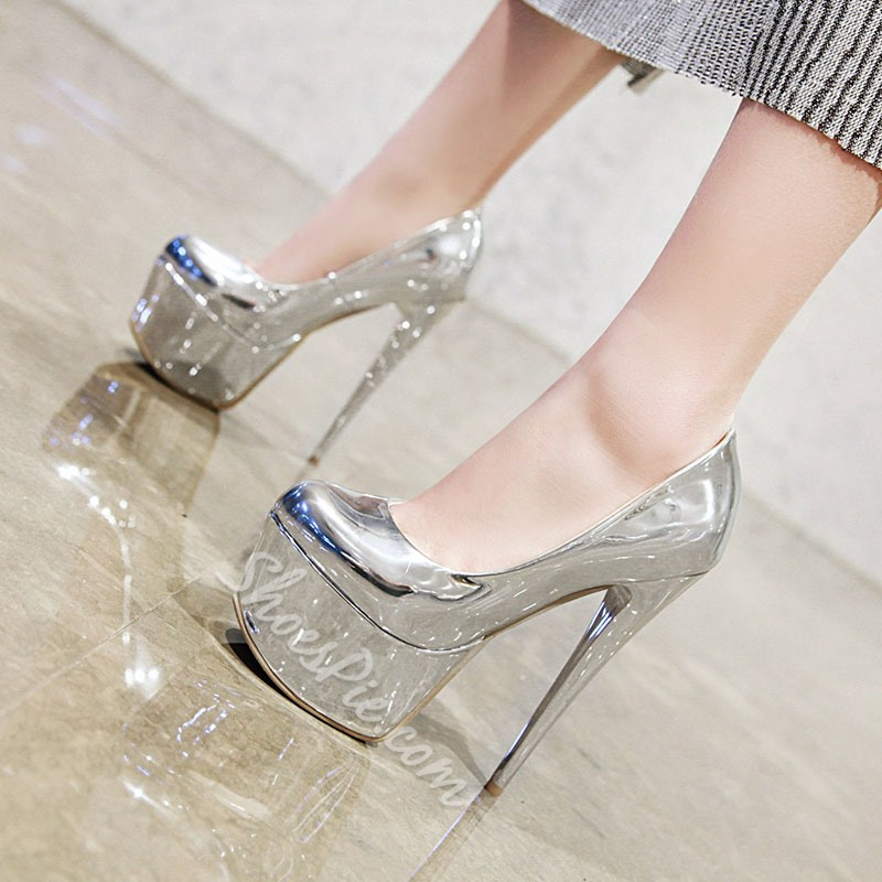 Shoespie Sexy Stiletto Heel Slip-On Pointed Toe Plain Thin Shoes