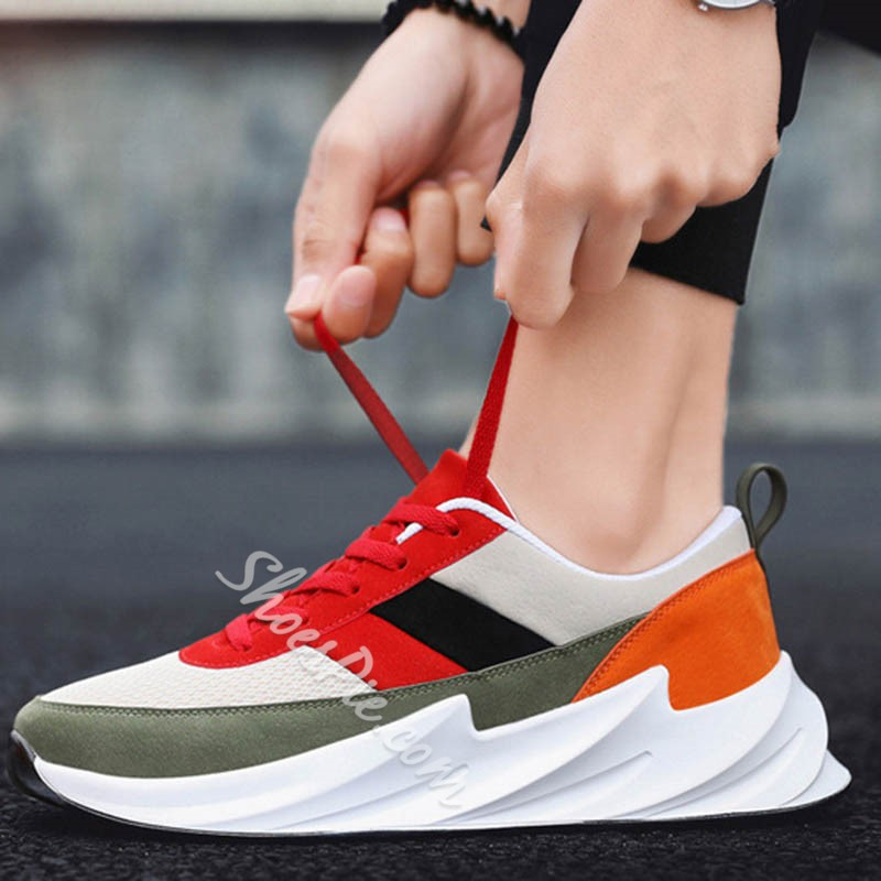 Shoespie Men's Lace-Up Low-Cut Upper Sports Lace-Up Sneakers