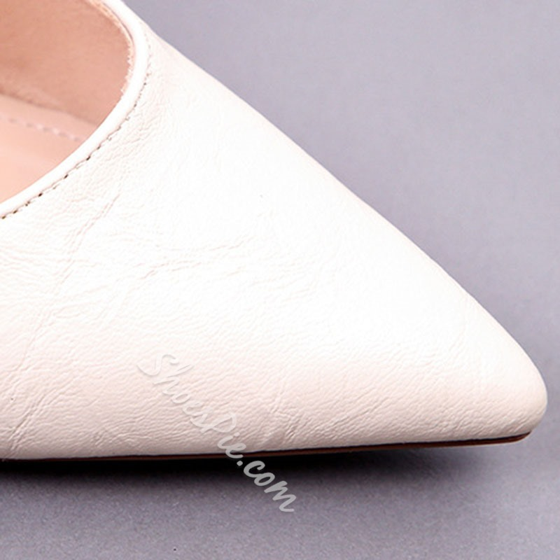 Shoespie Sexy Stiletto Heel Thread Pointed Toe Low-Cut Upper Thin Shoes