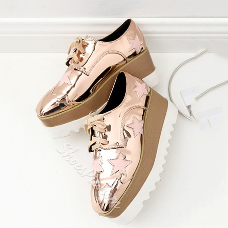 Shoespie Stylish Lace-Up Lace-Up Square Toe Low-Cut Upper Thin Shoes