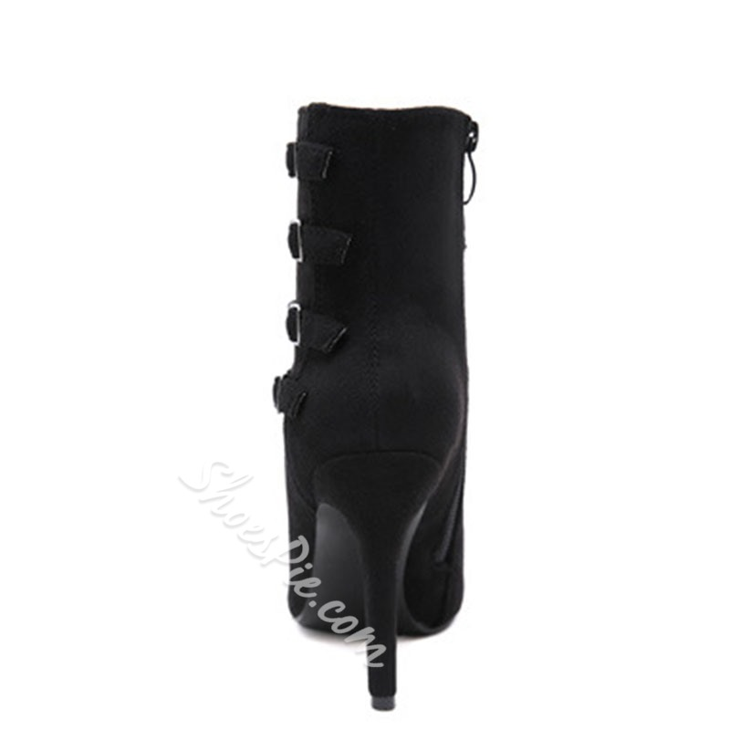 Shoespie Sexy Side Zipper Plain Pointed Toe Western Boots