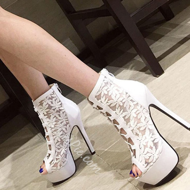 Shoespie Trendy Hollow Zipper Stiletto Heel Sexy Thin Shoes