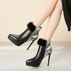 Shoespie Sexy Side Zipper Stiletto Heel Pointed Toe Platform Boots