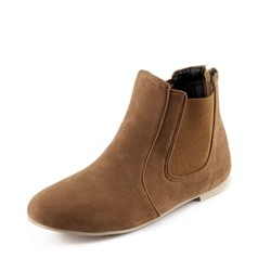 Shoespie Trendy Back Zip Round Toe Block Heel Western Boots