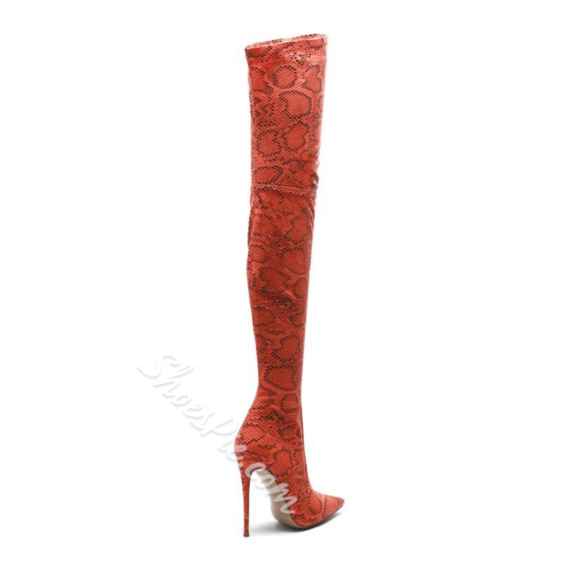 Shoespie Sexy Pointed Toe Side Zipper Stiletto Heel PU Boots