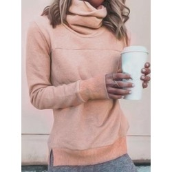 Regular Plain Long Sleeve Women Hoodie