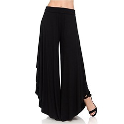 Pleated Plain Loose Asymmetric High Waist Women's Casual Pants