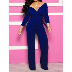 Plain Full Length Slim Women's Jumpsuit