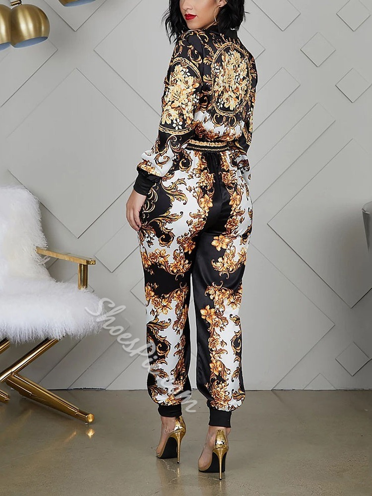 Fashion Sexy Print Plant Women's Jumpsuit