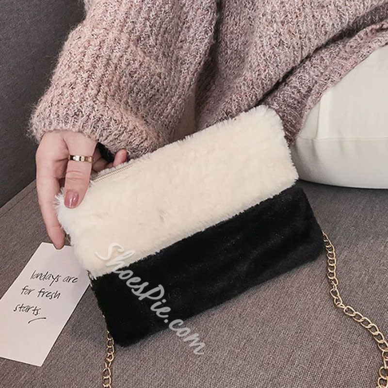 Shoespie Chain Rectangle Crossbody Bags