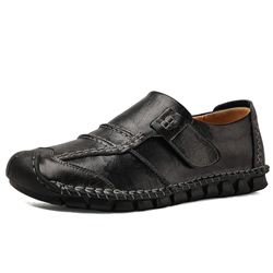 Shoespie Men's Color Block Velcro Low-Cut Upper Round Toe Loafers