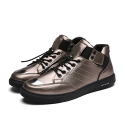 Shoespie Men's Low-Cut Upper Color Block Flat With Round Toe Skate Shoes