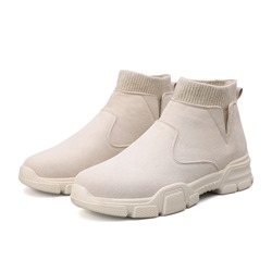 Shoespie Men's Slip-On Sports Thread Boots