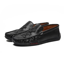 Shoespie Men's Slip-On Low-Cut Upper Plain Round Toe Simple Loafers