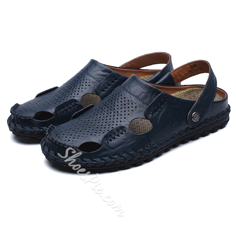 Shoespie Men's Casual Backless Soft Sandals