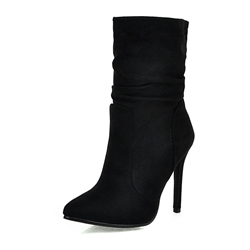 Shoespie Trendy Pointed Toe Plain Stiletto Heel Thread Boots