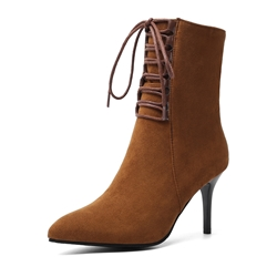 Shoespie Trendy Side Zipper Pointed Toe Plain Casual Boots