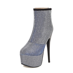 Shoespie Trendy Stiletto Heel Patchwork Round Toe Sexy Boots