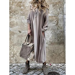 Hooded Long Sleeve Asymmetric Plain Women's Dress