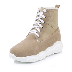 Shoespie Sexy Lace-Up Round Toe Casual Sneakers