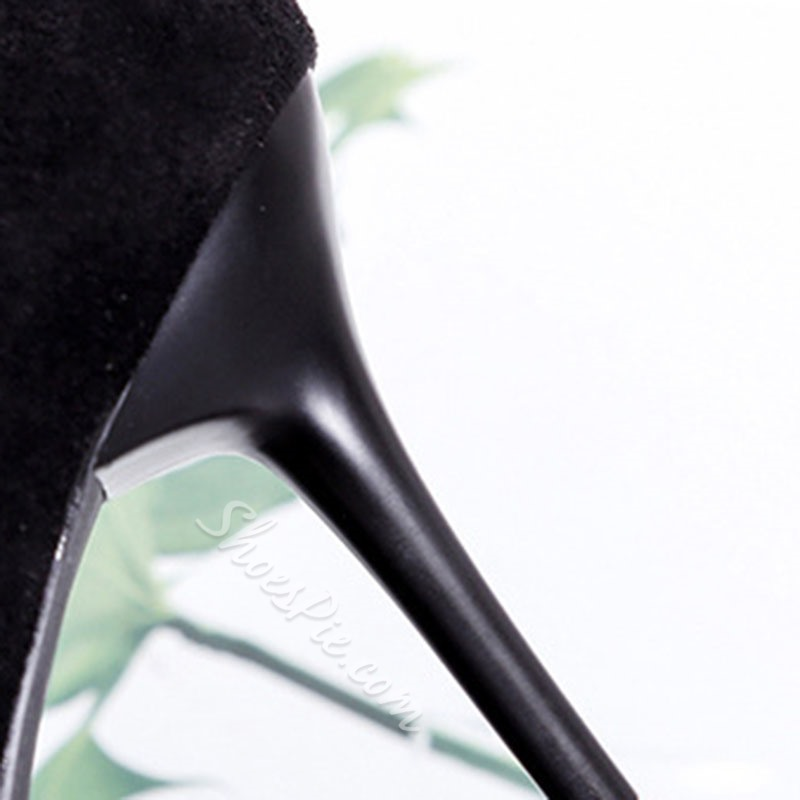 Shoespie Sexy Pointed Toe Front Zipper Stiletto Heel Western Boots