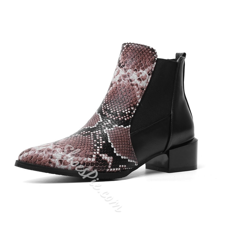 Shoespie Sexy Chunky Heel Pointed Toe Slip-On Casual Boots