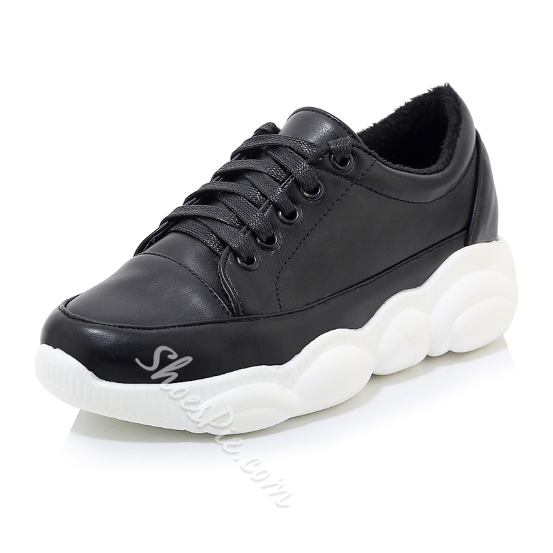 Shoespie Stylish Lace-Up Low-Cut Upper Round Toe Outdoor Sneakers